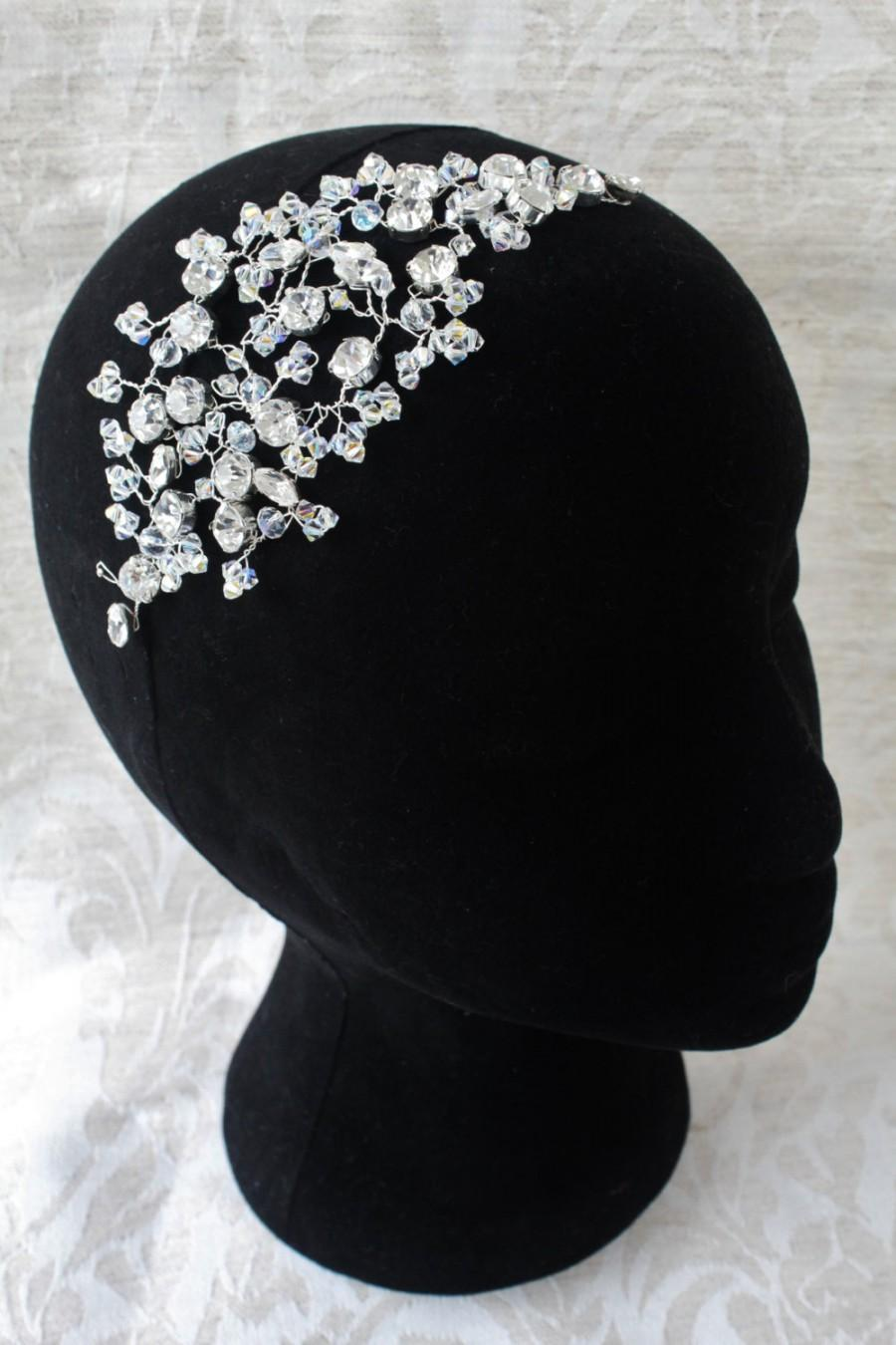 wedding hair accessories,diamante hair vine,swarovski crystal hair