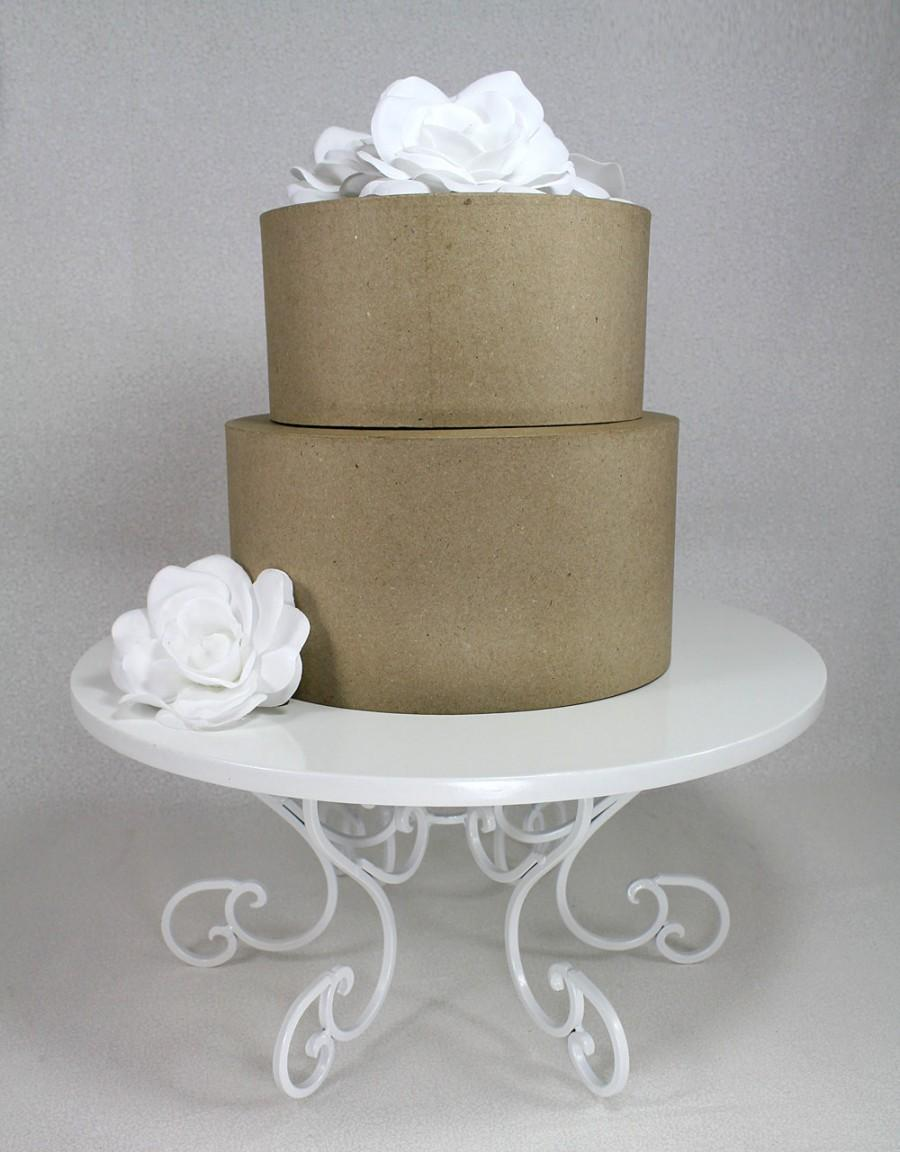 Cake Stand White Swirl Pedestal Party Or Wedding Platter Cupcake Display Plate Table Decor