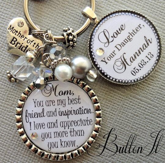 Best Mother Daughter Quotes MOTHER Of The BRIDE Gift, PERSONALIZED Keychain, Best Friend And  Best Mother Daughter Quotes