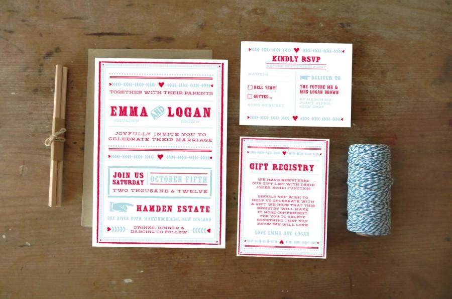 Diy Printable Wedding Invitation Carousel 4 Pieces