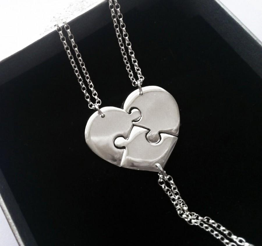 3 Best Friend Necklace Sisters Three Friends Sister Set Christmas Gift Boxed