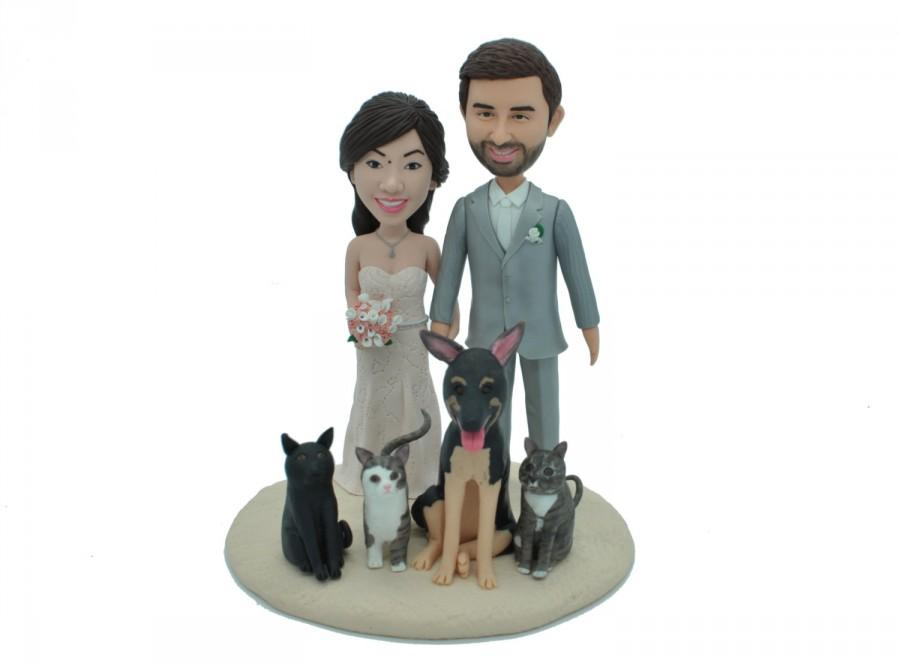 bobblehead wedding cake toppers personalized custom wedding cake topper wedding cake topper custom 12068