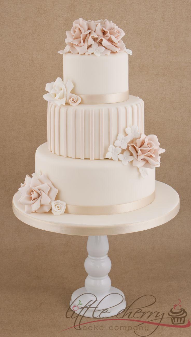 three tier wedding cakes with roses cake roses and stripes 3 tier wedding cake 2413924 20951