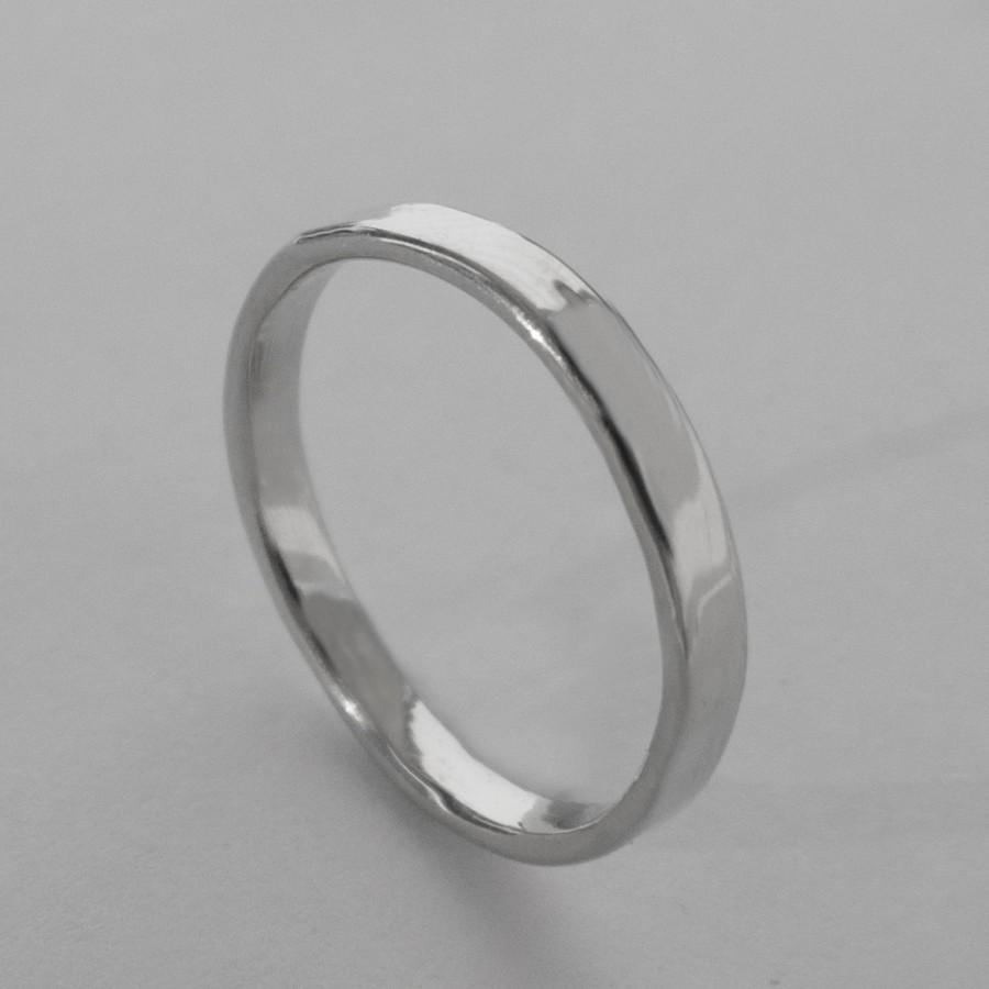 Simple Platinum Wedding Band Ring Men S Mens 3