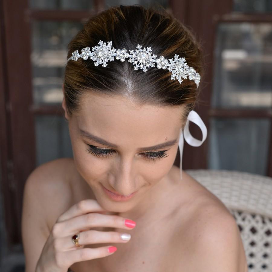 snowflake headband,wedding headband,bridal headband,flower headhband