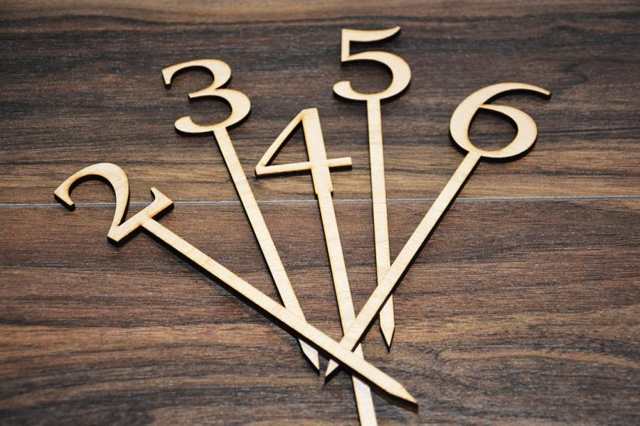 Wedding Table Number Wooden Numbers Rustic Unfinished Wood Diy Decoration