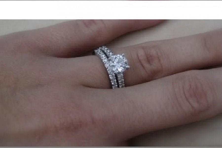 White Shire Engagement Ring 14kt Gold Diamond 1 75 Ctw G Si2 Quality Diamonds Center Stone 1ctw Round