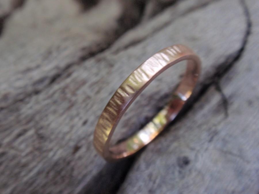 Wedding Band Rose Gold Engagement Ring Tree Bark For Men Women 14k Solid Yellow White Twig Wood Grain