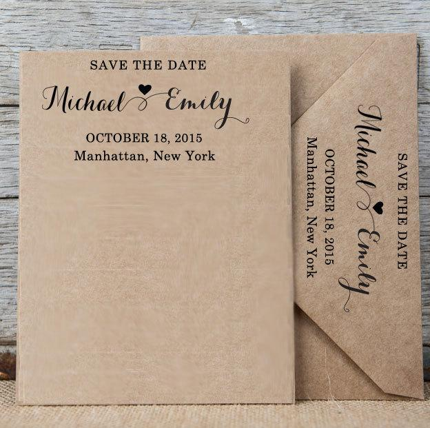 Custom Save The Date Stamp Personalized Rubber Self Ink Wedding Invitation Rsvp Calligraphy Hs104p