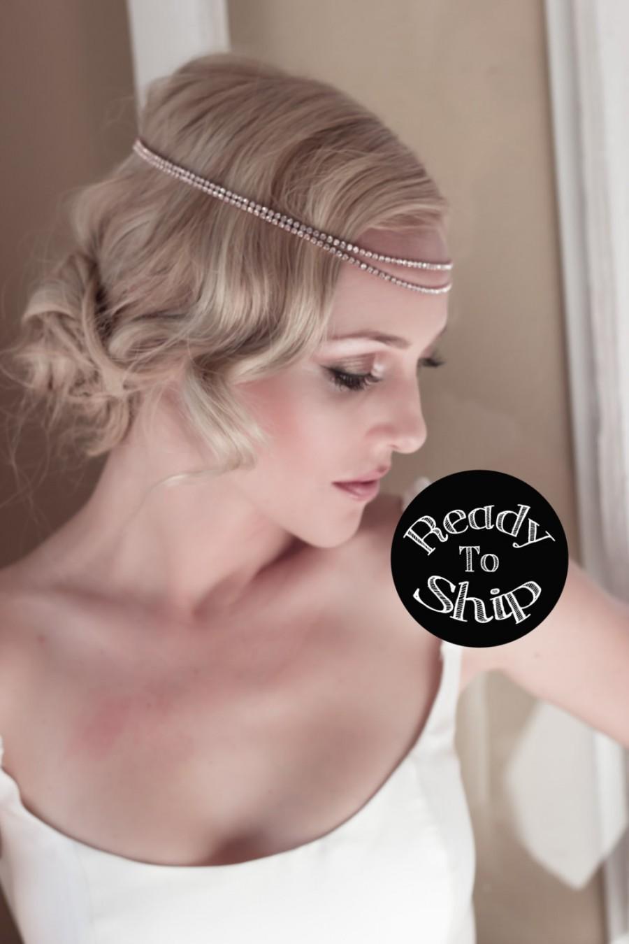 boho bridal headband, bridal hairband, bohemian bridal headpiece