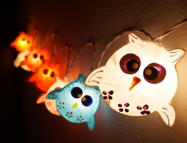 Owls Paper Lantern String Lights
