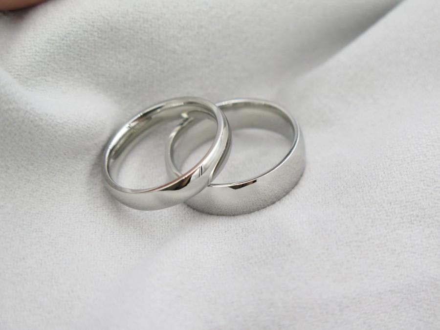 2 Rings Free Engraving Promise Wedding Bands His And Hers Ring Sets Valentine Gift