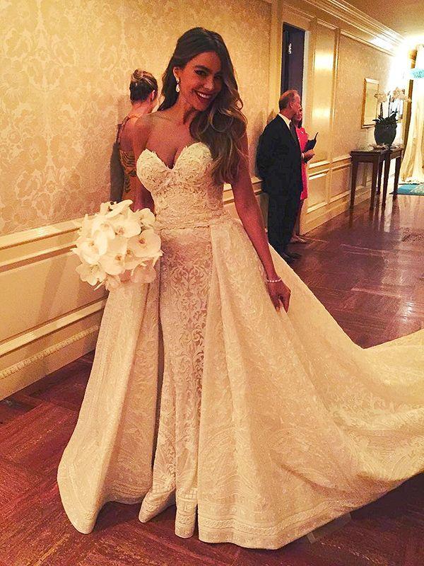 robe de mariée de Sofia Vergara
