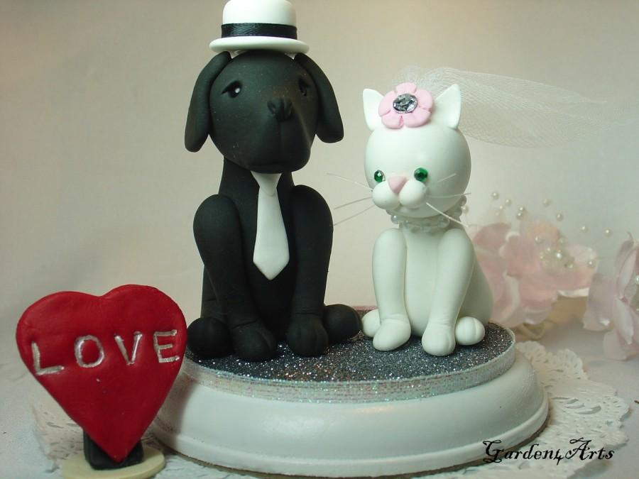 wedding cake toppers with dog and cat custom wedding cake topper amp cat with beautiful 26630