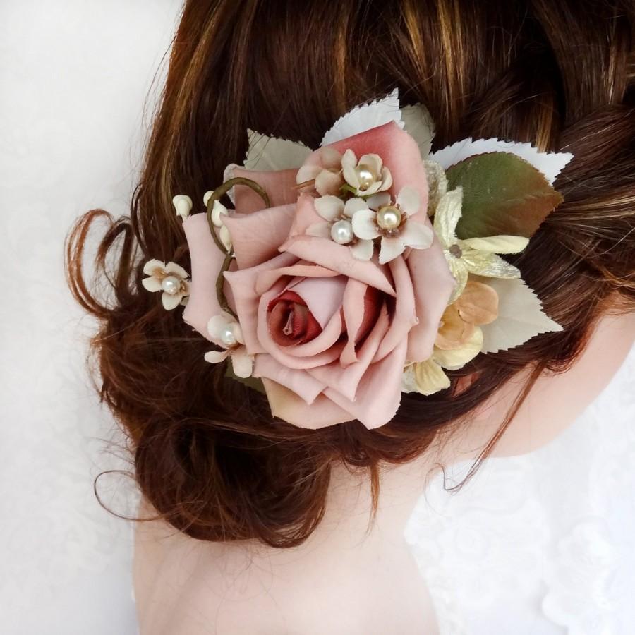 bridal headpiece, bridal hair piece, wedding hairpiece, floral