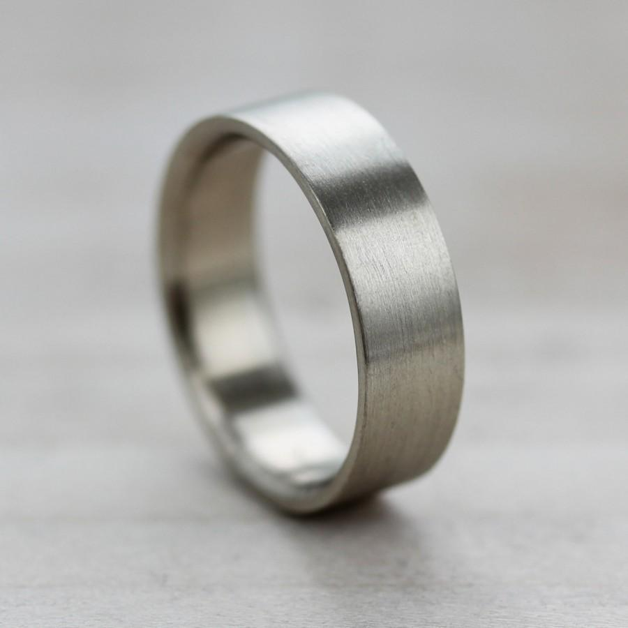 6x1 5mm Comfort Fit Flat Men S Wedding Band Recycled Eco Friendly Ethical Ring Modern Custom Made Gold Or Palladium