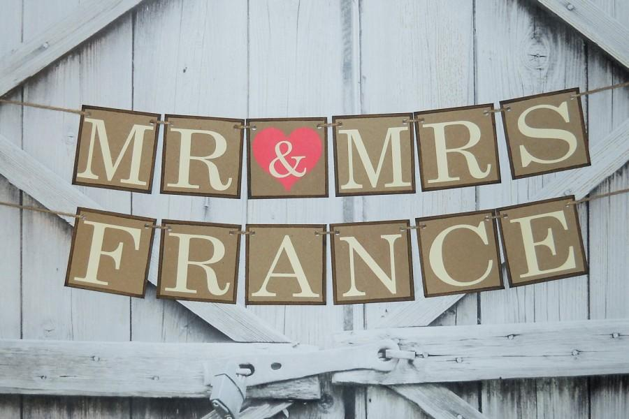 Custom Wedding Banner Choose Your Colors Mr And Mrs Sign