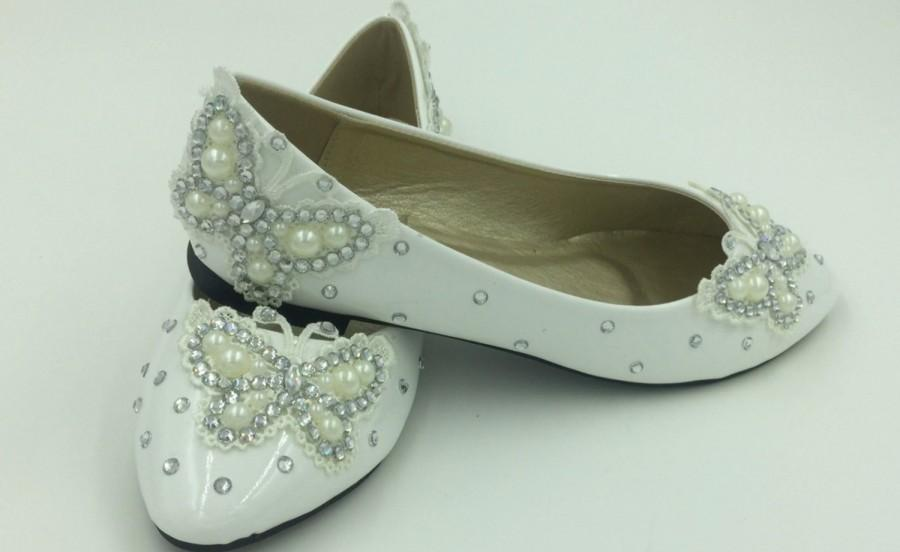 Wedding Shoes Bridal Flat Lace Women S Party Prom Evening Size 4 5 6 7 8 9 10 11 12