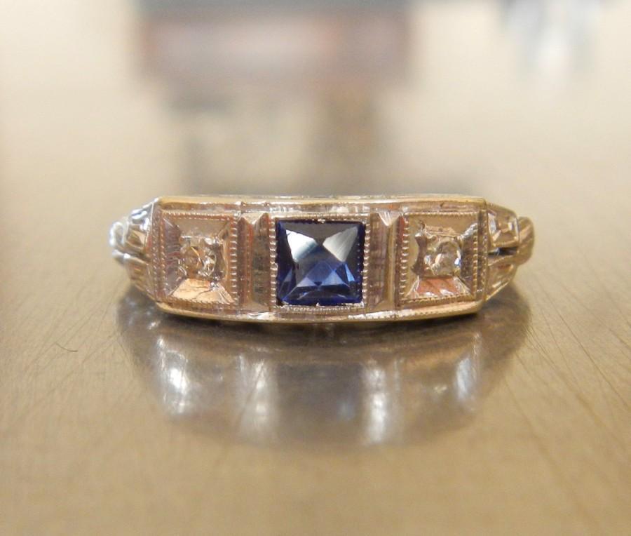 Edwardian Engagement Ring 1920 S Wedding Shire Diamond Art Deco Stacking Unique