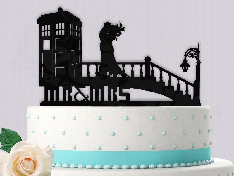 Dr Who Tardis In Time Wedding Cake Topper