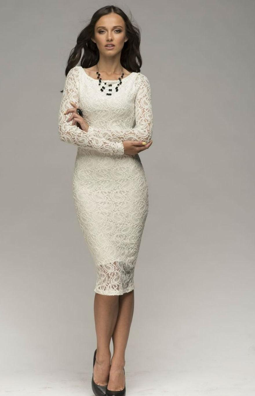 Y Ivory Lace Dress Prom Ed Open Back Pencil