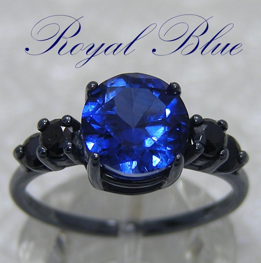 Funky Images Wedding Rings Embellishment Blue Color Ideas
