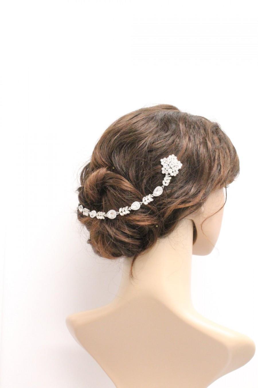 bridal hair chain wedding hair wrap grecian headpiece wedding halo