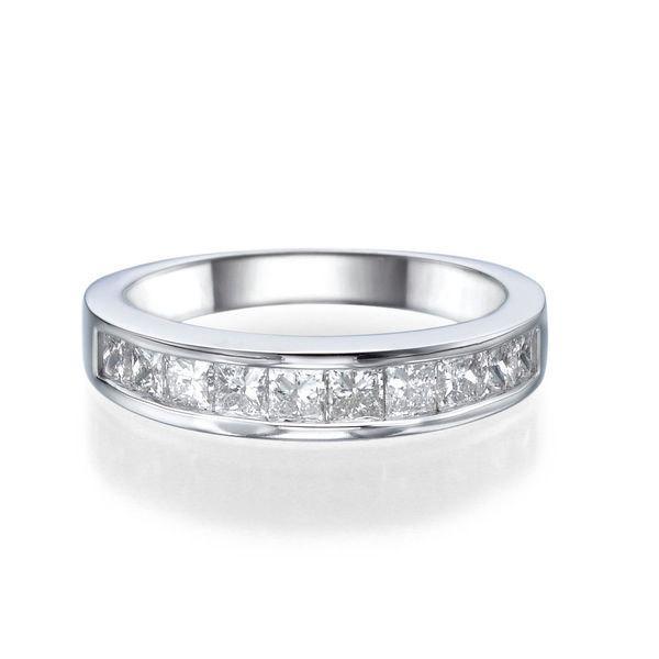 Clic Diamond Wedding Band 14k White Gold Ring 1 2 Tcw Delicate Womens