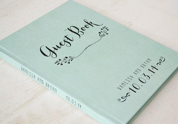 Rustic Wedding Guest Book Guestbook Custom Personalized Ideas Keepsake Gift