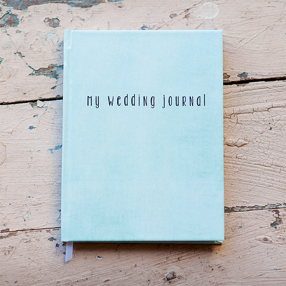 Wedding Journal Notebook Planner Personalized Customized Date And Names Custom Design Bridal Shower Guest Book