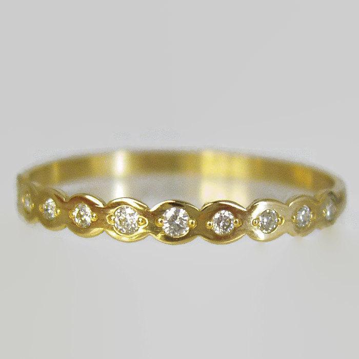 Diamond Engagement 14 Karat Gold Ring Engagement Ring Recycled
