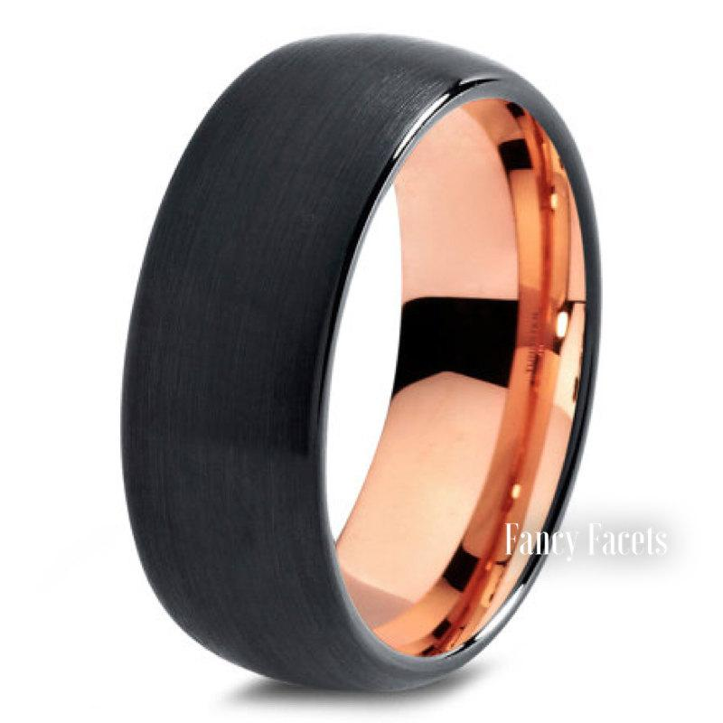 Tungsten Rose Gold Rings Men S Wedding Bands Jewelry