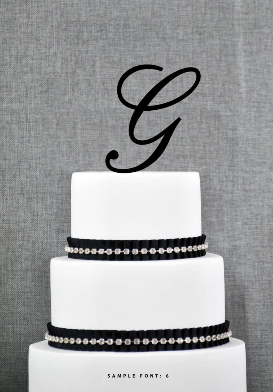 wedding cake topper letter g personalized monogram initial wedding cake toppers letter 26348