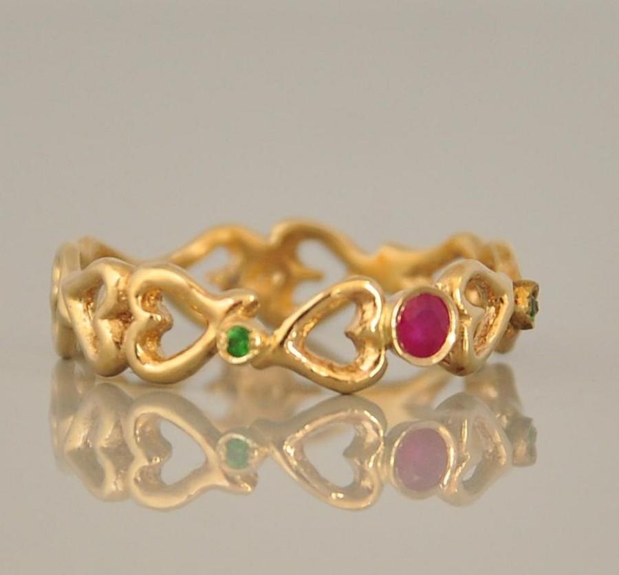 Ruby Ring Gemstone Ring 14K Gold Ring Gold Engagement Ring