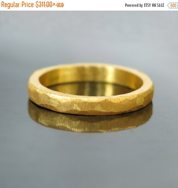 20 Hammered Gold Wedding Band Modern Ring Unique Men S Simple Mens Wed