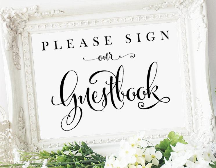 It's just a photo of Please Sign Our Guestbook Free Printable pertaining to navy coral reserved table