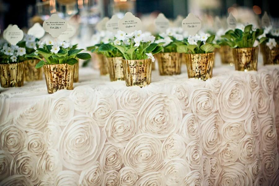 White Rosette Tablecloth Select Your Size Wedding Table Overlay Cake Runner