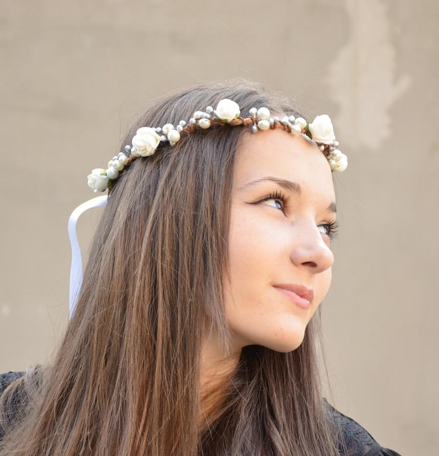 bridal halo, whimsical crown, flower crown, wedding tiara, prom