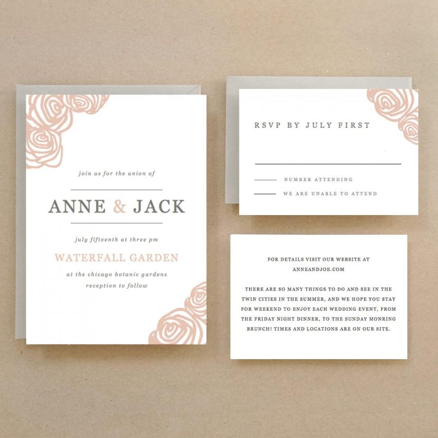invitation printable wedding template 2435558 weddbook want to make your own - How To Print Your Own Wedding Invitations