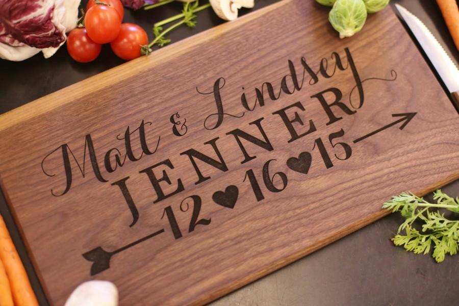 Personalized Cutting Board Newlyweds Christmas Gift Bridal Shower Wedding Engraved Item Number Mhd20018