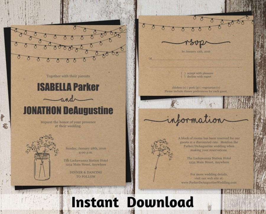 free printable rustic wedding invitations wedding