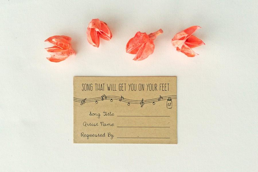 Annabelle Editable Wedding Song Request Card Rustic Mason Jar Lights Diy Printable Instant File Invitation