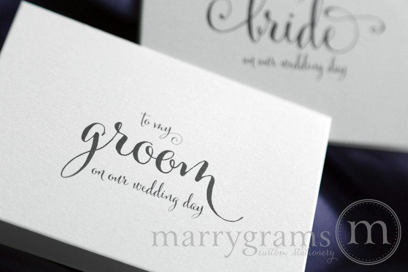 Wedding Card To Your Groom On Our Day Gift For My Note New Husband Cs07