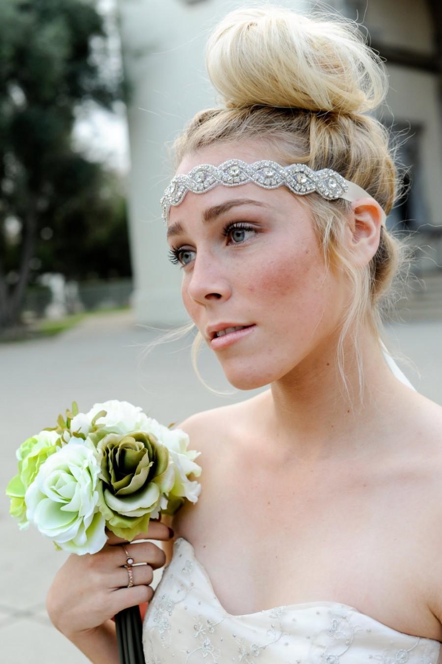 crystal headband ,bridal headband, vintage headband, bridal