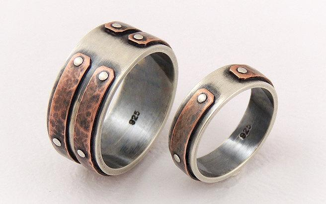 Unique Wedding Rings Set Ring Engagement Of Band Man Woman