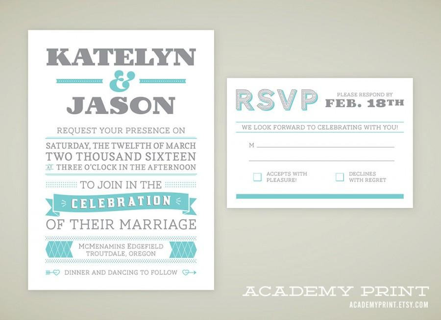Printable Wedding Invitation And Rsvp Set For Multnomah Suite Custom Announcement Diy Invite