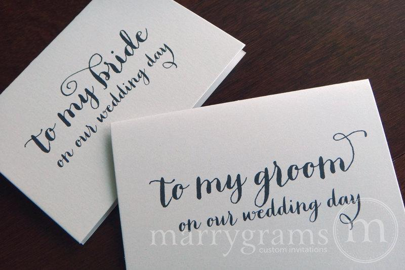 Wedding Card To Your Bride Or Groom On Our Day My Love Note Before The Ceremony Cs02