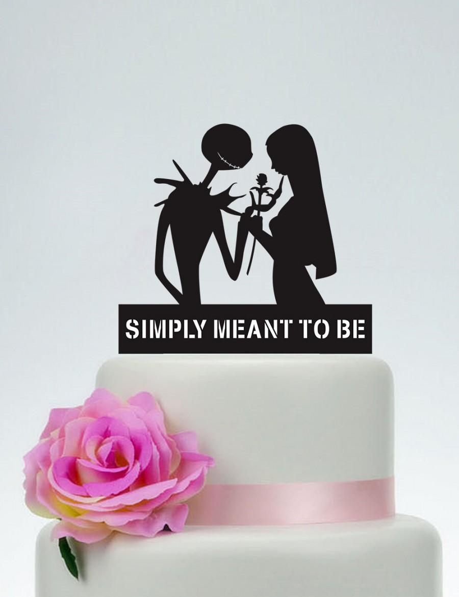 Wedding Cake Topper Simply Meant To Be Personalized Jack Skellington And Sally P146