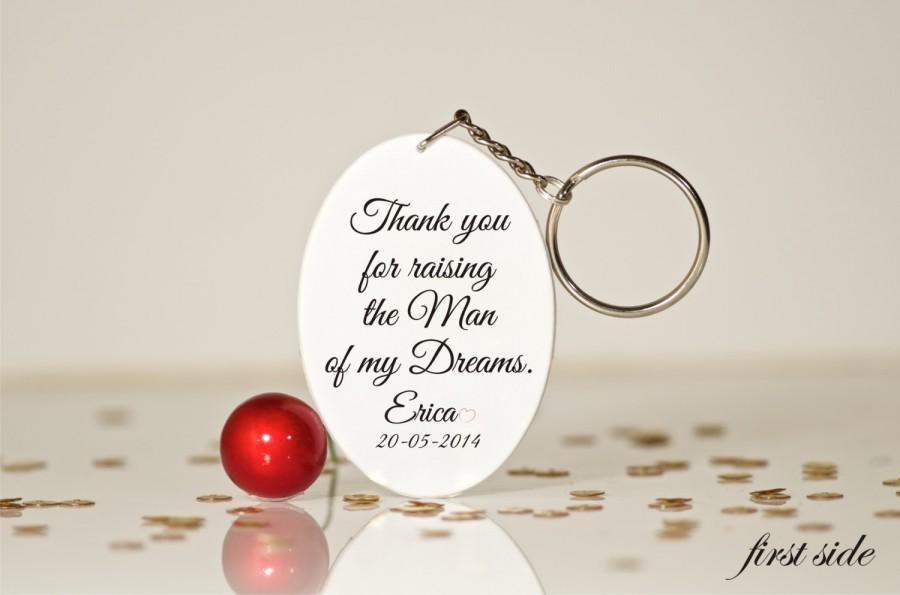 Thank You For Raising The Man Mother Of Groom Gift In Law Husband Mom Key Chain