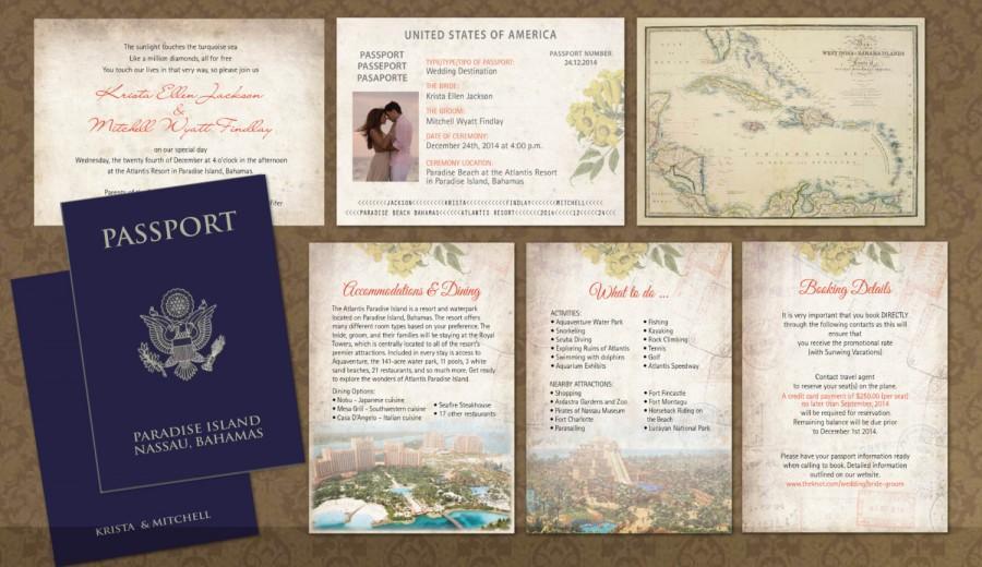Pport Wedding Invitation Booklets Real Style Paradise Adventure Bahamas Jamaica Mexico